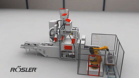 Wire mesh belt blast machine - RDGE - Shot Blasting