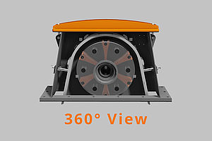360° View of a Gamma 400G Blast Wheel